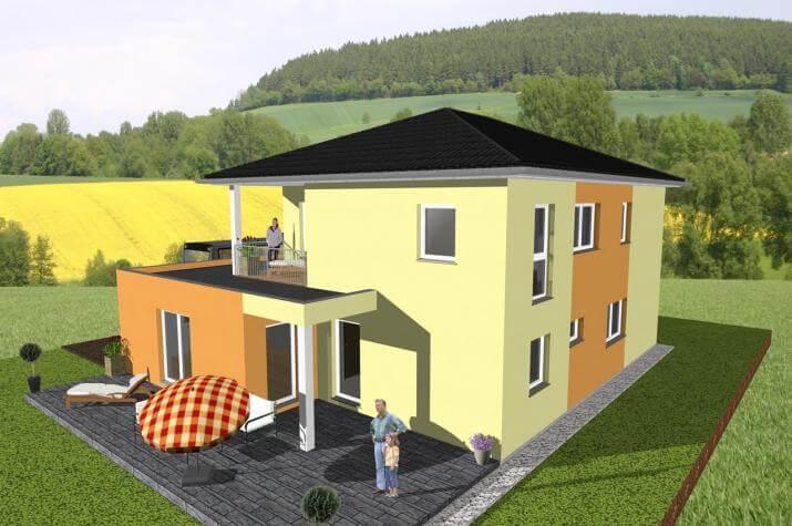 ... individuell geplant ! - Stadtvilla mit Gewerbeanteil- www.jk-traumhaus.de -