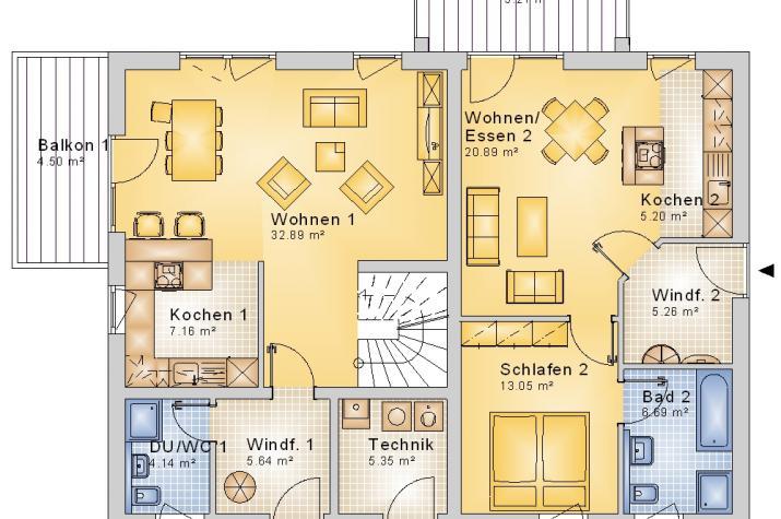 3-FH Generationenhaus - SD 259 V372 -  - Grundriss EG
