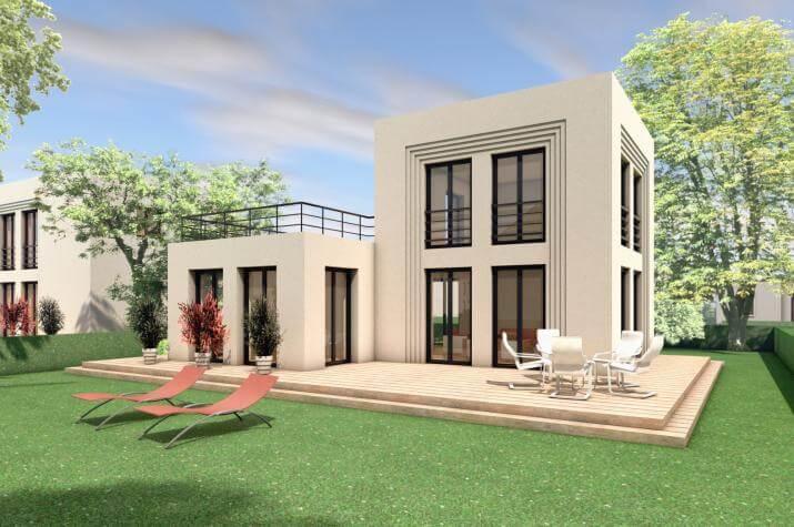 5 x 5 kompakt Haus 03-01 - Gartenbild