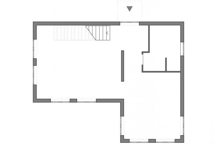 5 x 5 kompakt Haus 03-01 - Grundriß EG schematisch