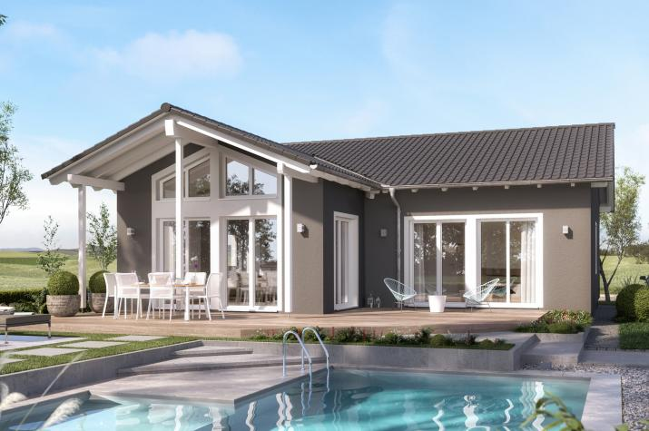 AMBIENCE 100 V2 - Sonniger Bungalow mit großzügigem Wohnbereich im Satteldach-Querhaus