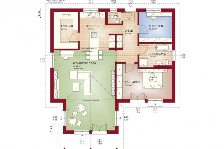 AMBIENCE 100 V2 - AMBIENCE 100 V2 – Grundriss Erdgeschoss