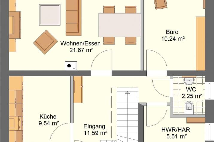 Aktionshaustyp Sonderedition Classico 120 SD90 - Skizze Erdgeschoss