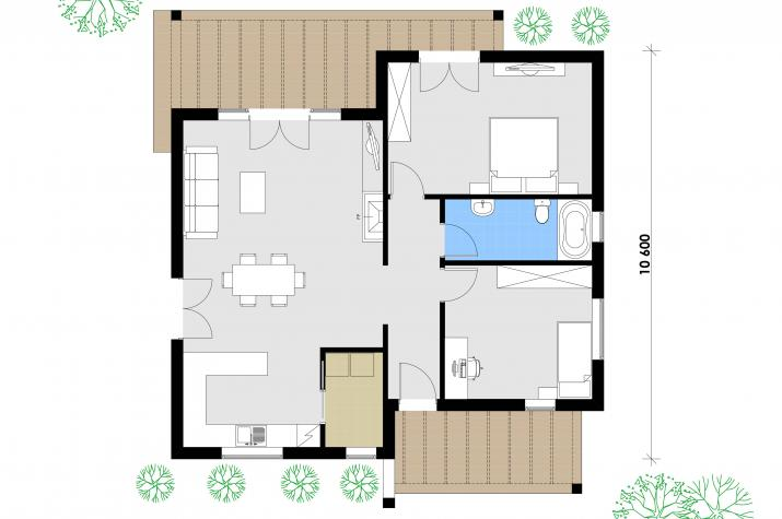Ausbauhaus 105 - 59.900.-- € inkl. 19% MwSt. -