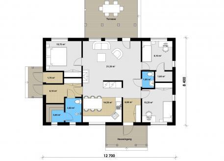 bis 50.000 € Ausbauhaus 107 - Aktionshaus inkl. Carport -Kaufpreis 48.080.-- € inkl. MwSt.