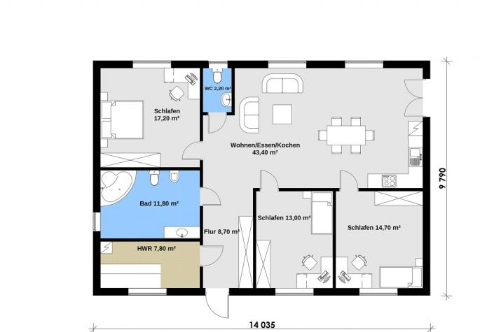 Ausbauhaus 113 - 59.900.-- € inkl. 19% MwSt. -