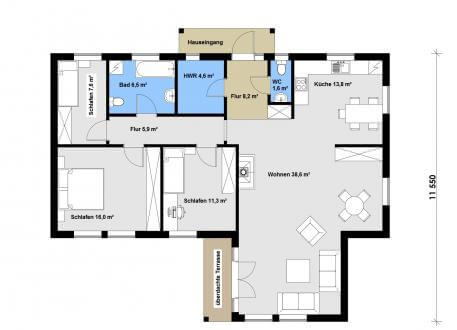 Holzhaus Ausbauhaus 120 - Kaufpreis 61.708.-- € inkl. MwSt.