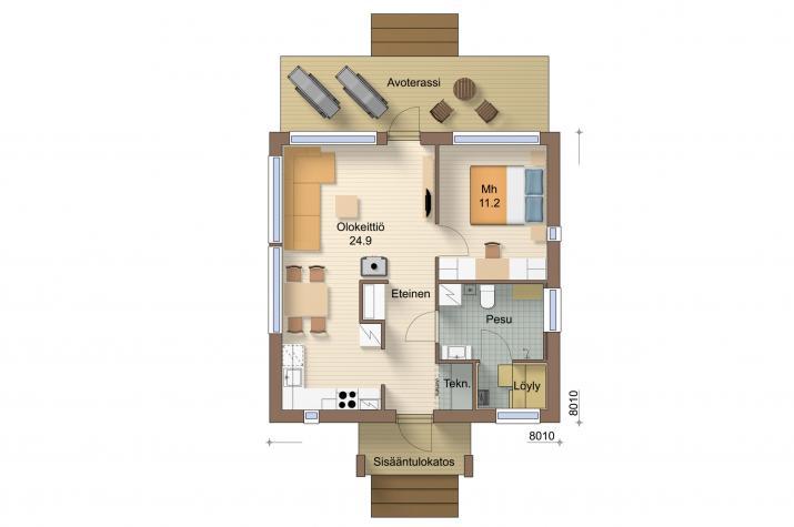 Ausbauhaus 53 - Energieklasse A+ - Kaufpreis 38.975.-- € inkl. 19% MwSt. - - Erdgeschoss