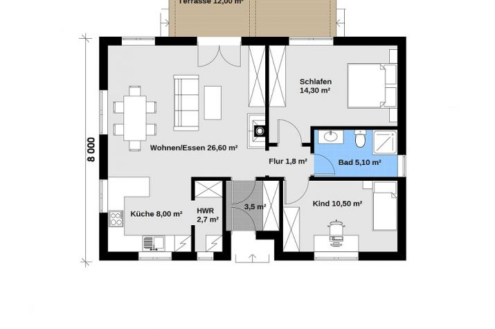 Ausbauhaus 88 - 59.900.-- € inkl. 19% MwSt.  -
