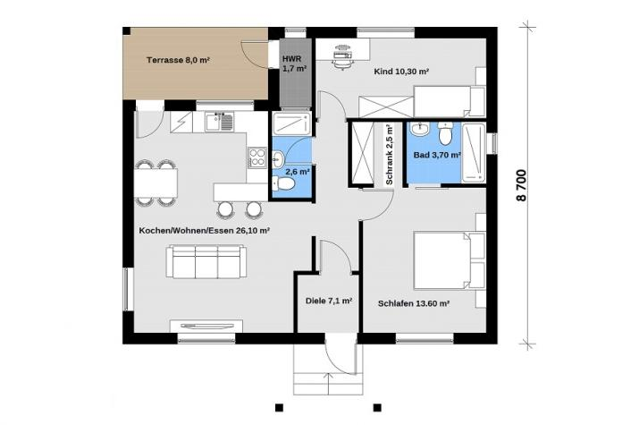 Ausbauhaus 89 - 59.900.-- € inkl. 19% MwSt. -