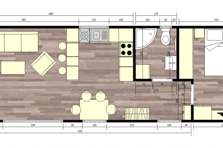 Ausbauhaus bis 48 m² - Energieklasse A+ -ab 39.300.-- € inkl. 19% MwSt. - 12,00 x 4,50 m