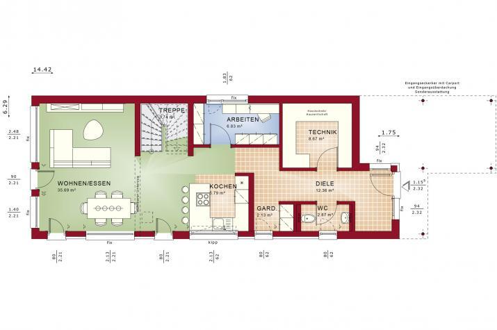 BALANCE 145 V3 - Grundriss Erdgeschoss