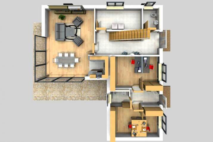 BAUHAUS ÖLSEN 10-053 - Grundriss Erdgeschoss