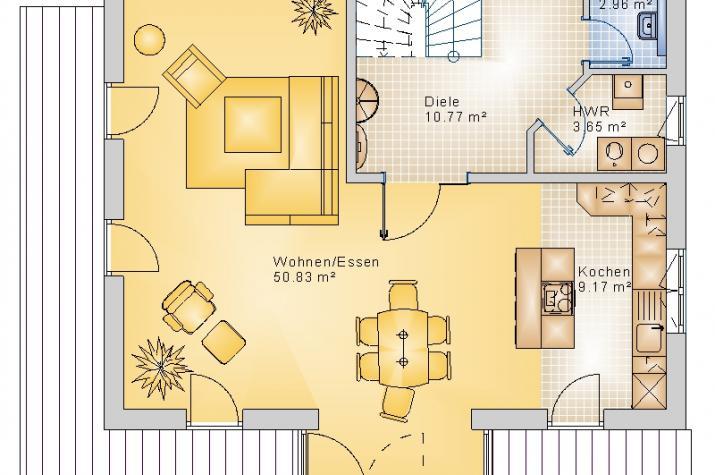 BAUHAUS ALPENROD 10-017 - Grundriss Erdgeschoss