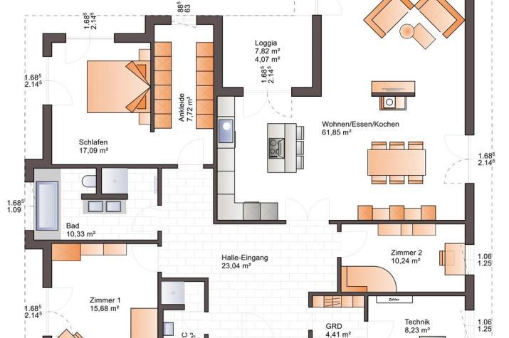 Bärenhaus Bungalow One 173 - One 173 Erdgeschoss