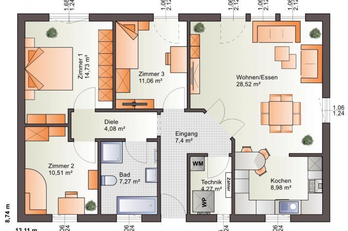 Bärenhaus Bungalow One 97 - One 97 Erdgeschoss