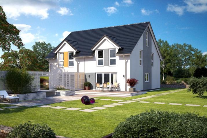 Bärenhaus Doppelhaus Duo 117 - Duo 117 Garten