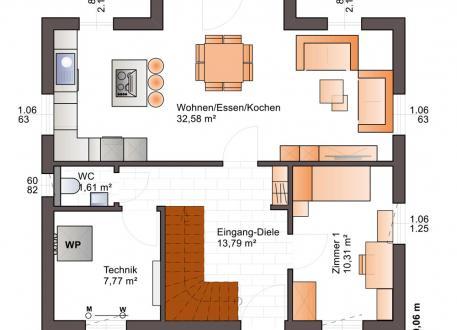 Niedrigenergiehaus Bärenhaus Einfamilienhaus Esprit 127