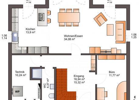 Niedrigenergiehaus Bärenhaus Einfamilienhaus Esprit 176