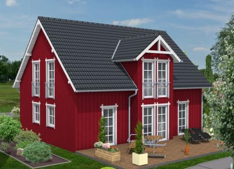 Bauen Sie im Schwedenhausstil mit Holzverbundhaus