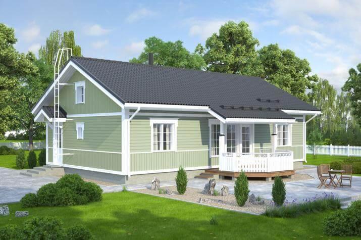 Bausatzhaus 105/1 - Kaufpreis 74.990.-- € inkl. 19% MwSt. - Ansicht