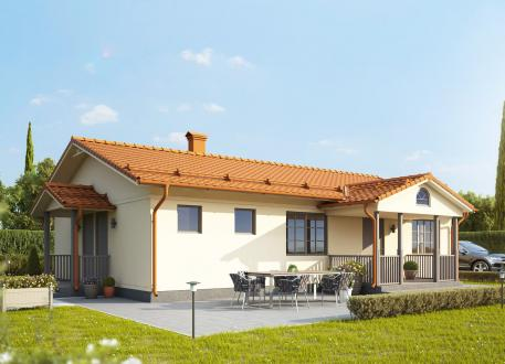 bis 100.000 € Bausatzhaus 107 - inkl. Carport -Kaufpreis 61.000.-- € inkl. MwSt.