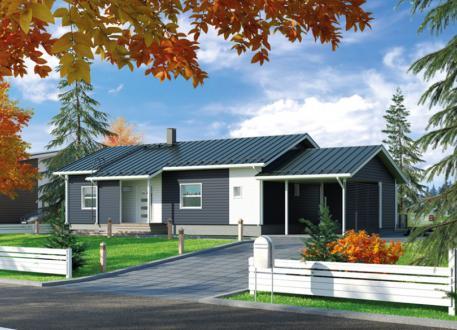 bis 100.000 € Bausatzhaus 108 mit Carport - Kaufpreis 62.900.-- € inkl. MwSt.
