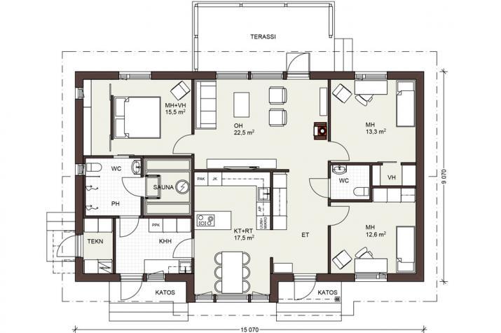 Bausatzhaus 120/2 - Kaufpreis 85.830.-- € inkl. 19% MwSt. - Erdgeschoss