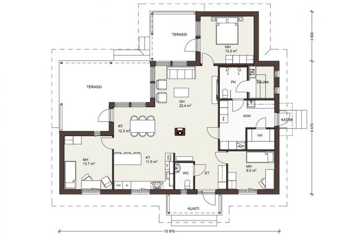 Bausatzhaus 123 - Kaufpreis 95.050.-- € inkl. 19% MwSt. - Erdgeschoss