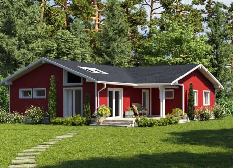 Schwedenhaus Bausatzhaus 132 - Kaufpreis 47.860.-- € inkl. 19% MwSt.