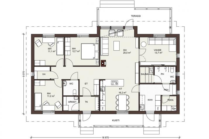 Bausatzhaus 136/2 - Kaufpreis 88.580.-- € inkl. 19% MwSt. - - Erdgeschoss