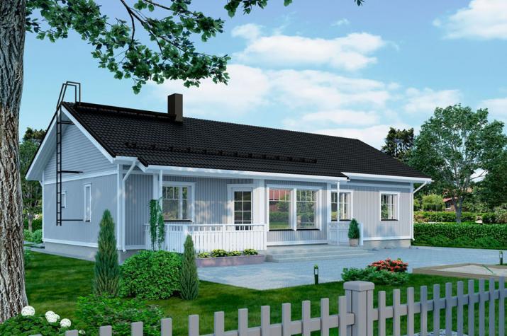 Bausatzhaus 136/2 - Kaufpreis 88.580.-- € inkl. 19% MwSt. - - Ansicht