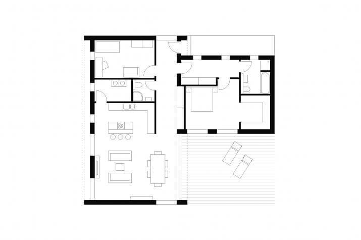 Bungalow | BU1 | 129 qm | KfW55 - EG