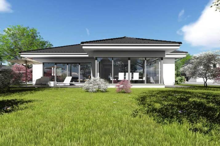 Bungalow | BU4 | 140 qm | KfW55 - Ansicht Garten