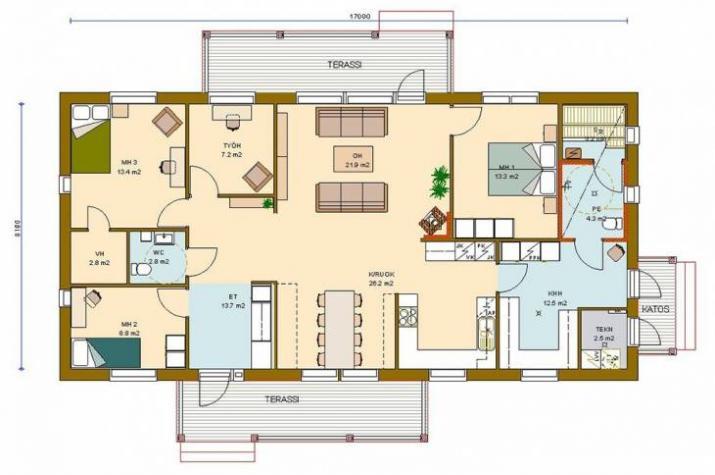 Bungalow 135/1 - Kaufpreis 79.650.-- € inkl. 19% MwSt. - - Erdgeschoss
