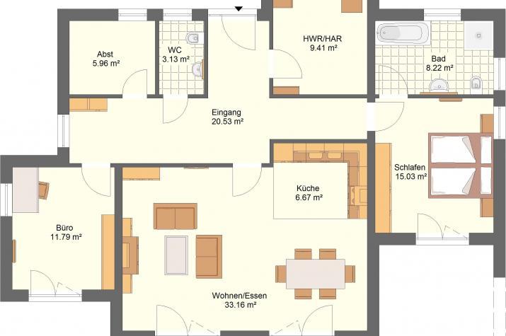 Bungalow 44.13 - Skizze Innenbereich