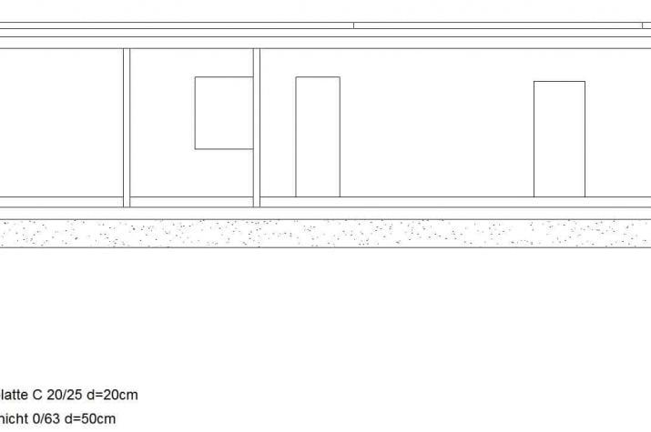 Bungalow 44.22 - Grundriss Seitenansicht Skizze