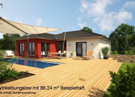 Bungalow Bungalow als Winkelhaus - Klein aber fein - ca. 86,5 m² Wohnfläche nach DIN 277