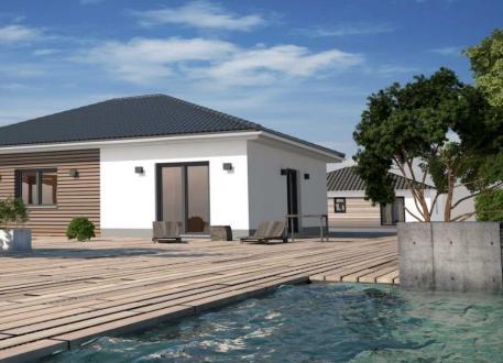 bis 200.000 € Bungalow mit 80 m² - Kleines Raumwunder