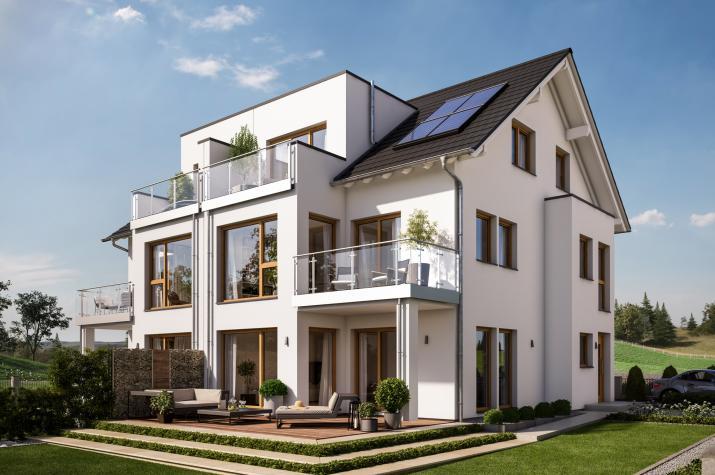 CELEBRATION 122 V3 XL - Traumhaftes Doppelhaus mit zwei 2-geschossigen Erkern