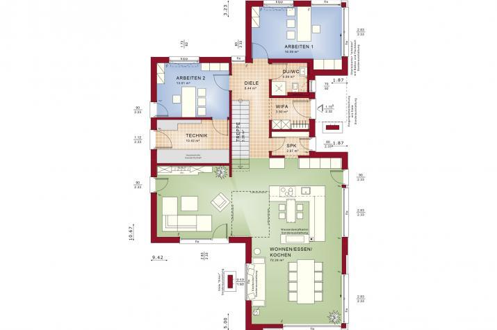 CONCEPT-M 168 Erlangen - Grundriss Erdgeschoss
