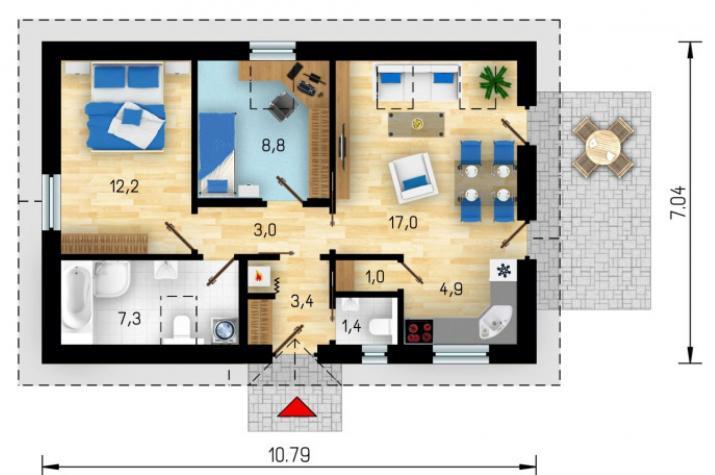 CRB 14 (59) - Wohnen auf einer EBENE in ca. 59 m ² unter dem Motto