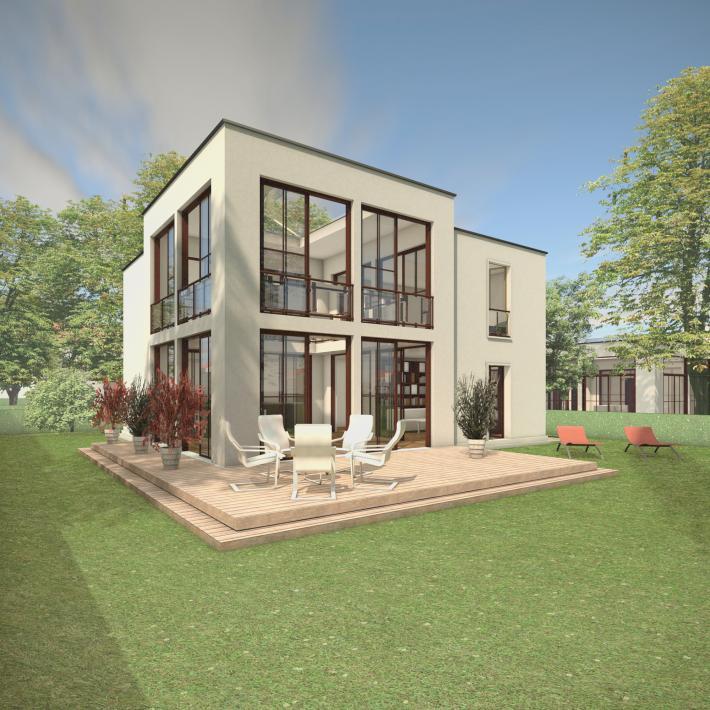 Das Atriumhaus ATR07-H02 - cube-design-house