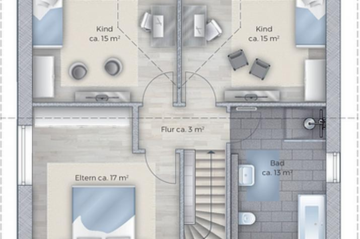 Das klassische EFH mit zahlreichen innovativen Möglichkeiten zur Gestaltung - Vorschlag zum DG
