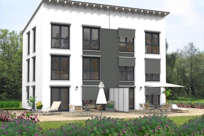 Doppelhaus Klassik 30.41 - Außenansicht