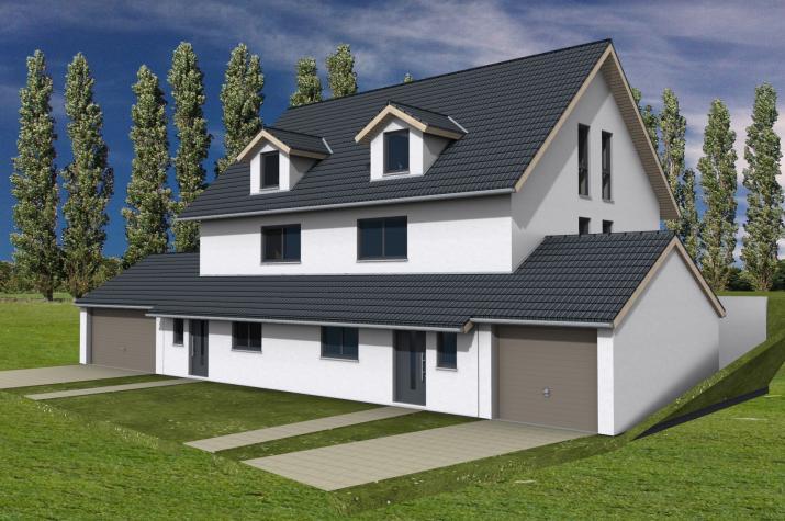 Doppelhaus Miltenberg - Doppelhaus am Hang