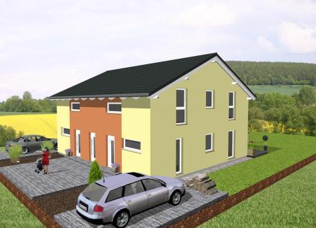 Doppelhausähnliches Zweifamilienhaus - www.jk-traumhaus.de