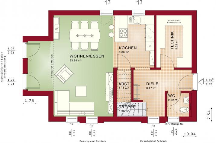 EDITION 120 V2 - Grundriss Erdgeschoss