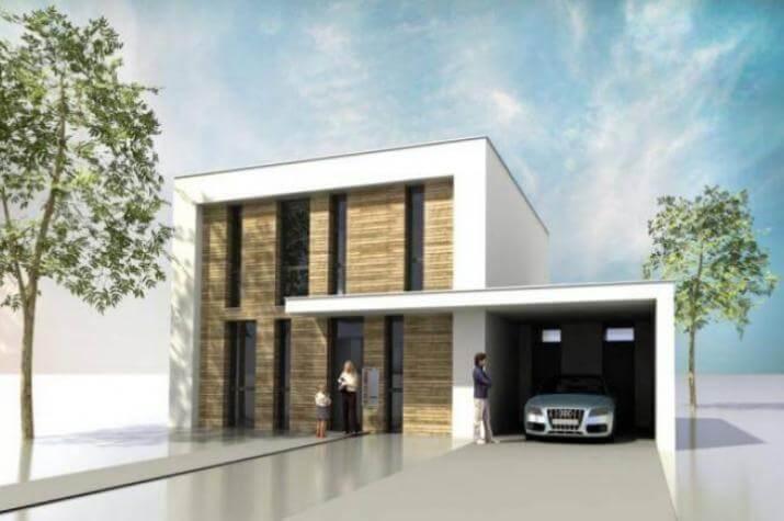 EINS  Haus -  Gesund. Sauber. Schön - Ein Niedrigenergiehaus in moderner Architektur