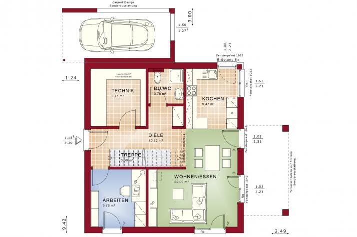 EVOLUTION 136 V5 - Grundriss Erdgeschoss
